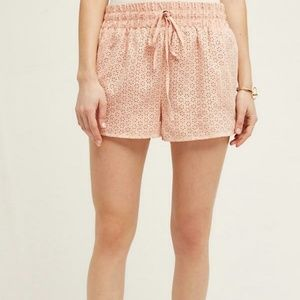 Anthropologie | Vegan Leather Eyelet Shorts